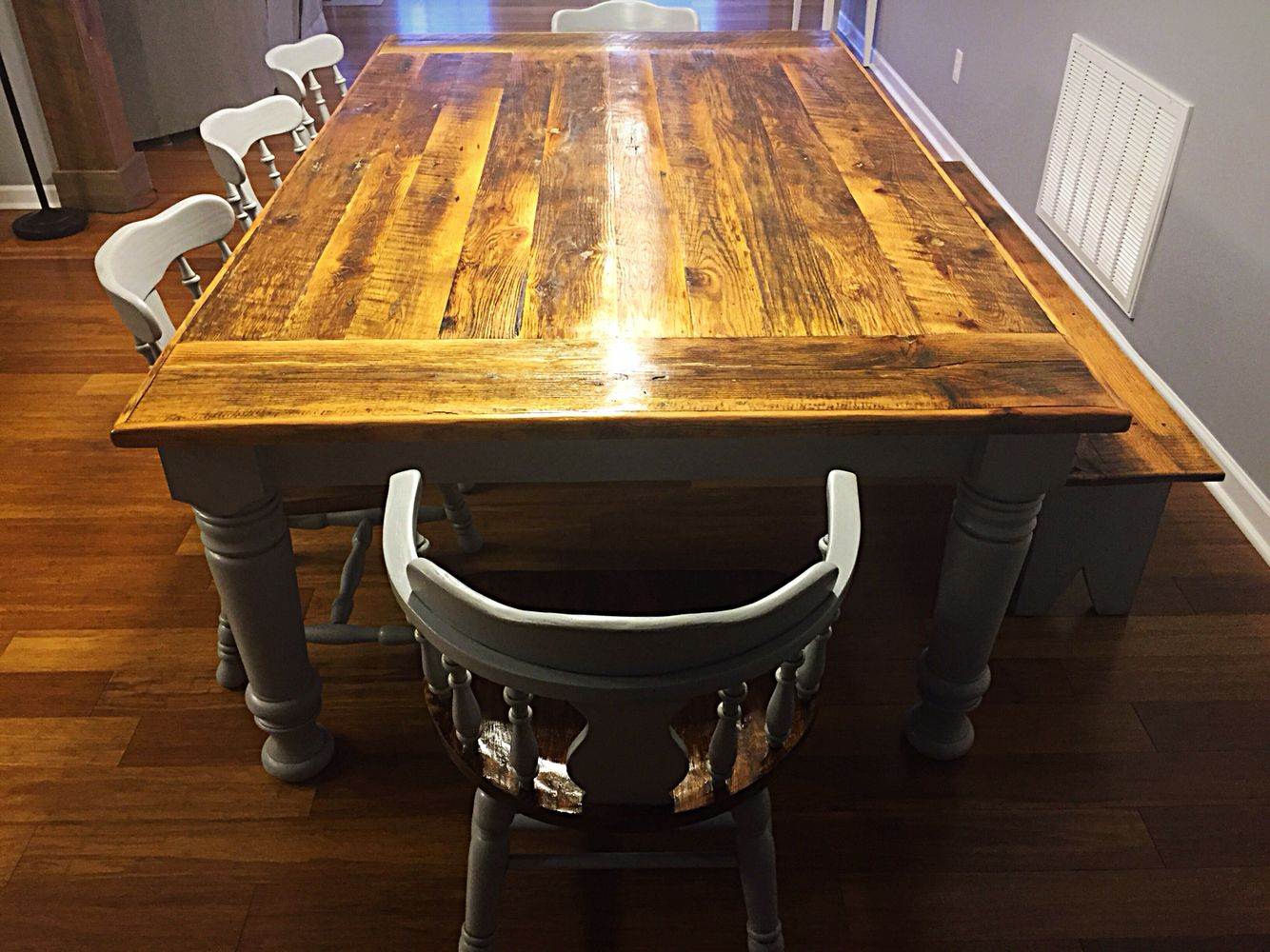 8 ft farmhouse table by vintage southern creations