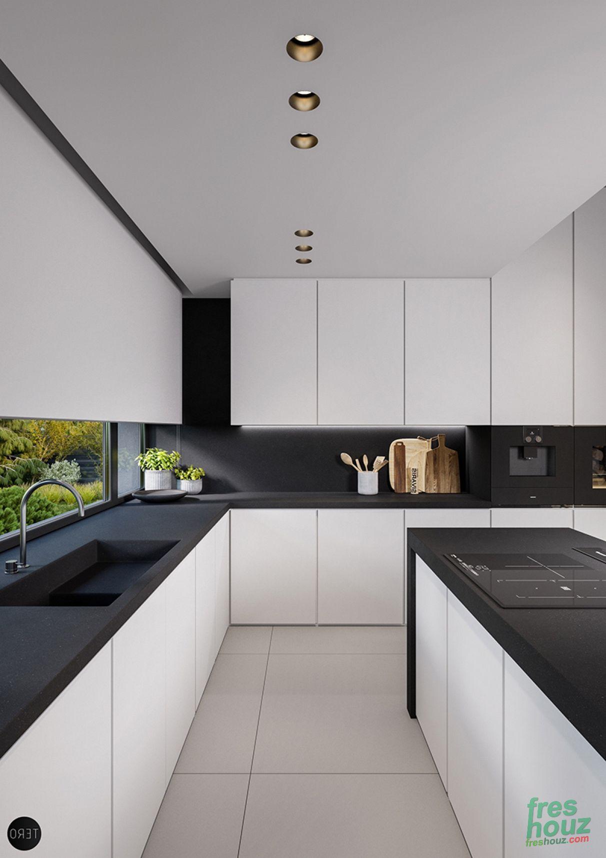 Idee Deco Cuisine Noir Et Blanc 41 inspiring black and white kitchen design / freshouz