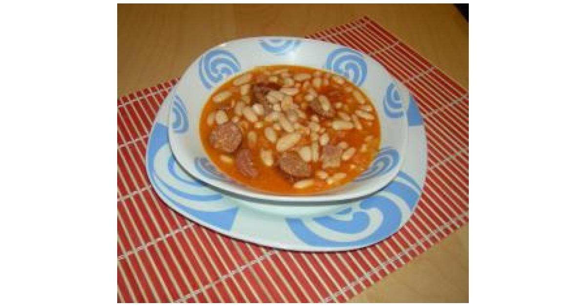 Judias Blancas Con Chorizo Receta Recetas Con Legumbres Judias Blancas Recetas De Comida