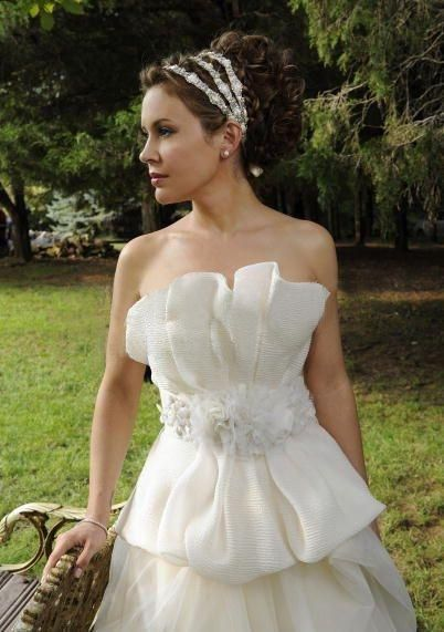 Alyssa Milano S Vera Wang Wedding Dress Celebrity Wedding