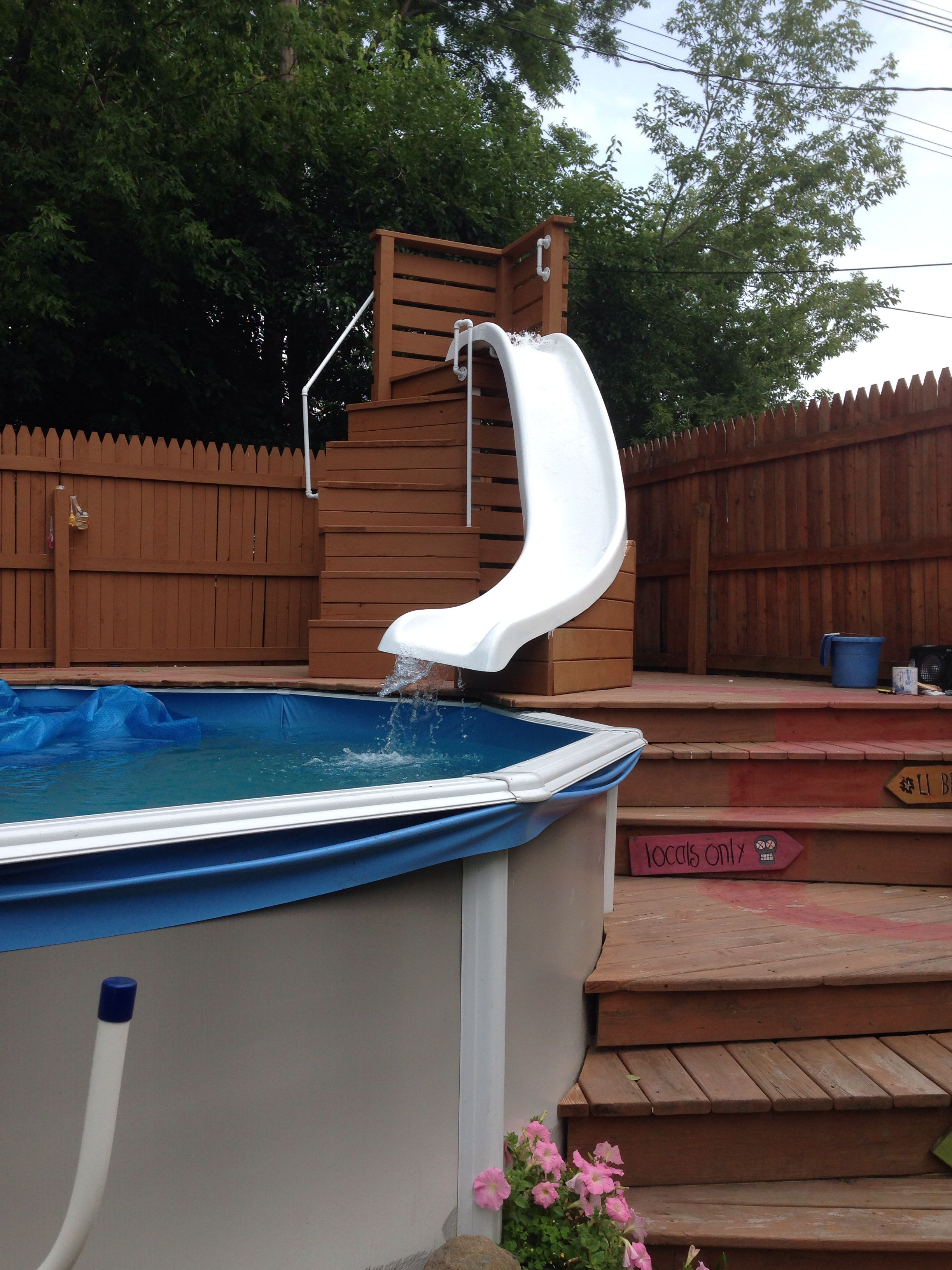 Pool Slide Swimming Pool Slides Diy Swimming Pool Backyard Pool