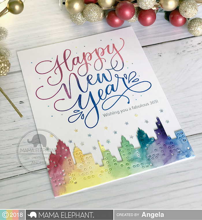 Mama Elephant Design Blog Introducing Happy New Year Wishes Holiday Messages Happy New Year Cards New Year Card Design New Year Cards Handmade