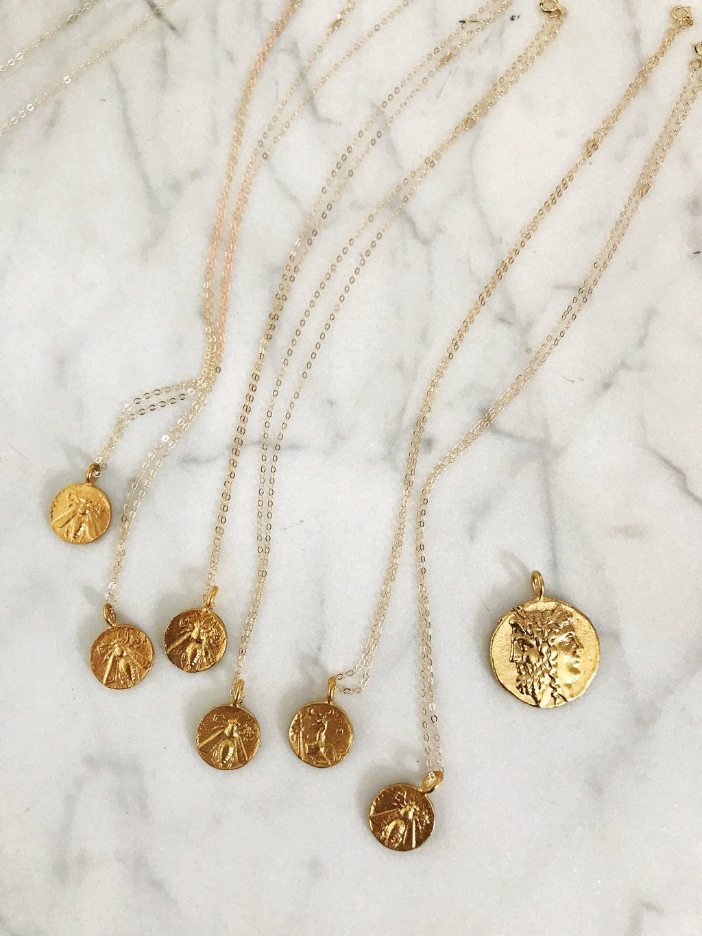 d566d95156437e Baby Bee Necklace Gold Coin Necklace, Bee Necklace, New Shop, Jewelry, Gold