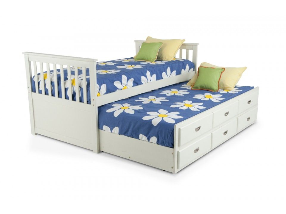 Chadwick Twin Captain Bed With Trundle Captains Bed Twin