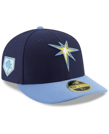 check out 62b58 4838b New Era Tampa Bay Rays Spring Training 59FIFTY-fitted Low Profile Cap - Blue  6 7 8