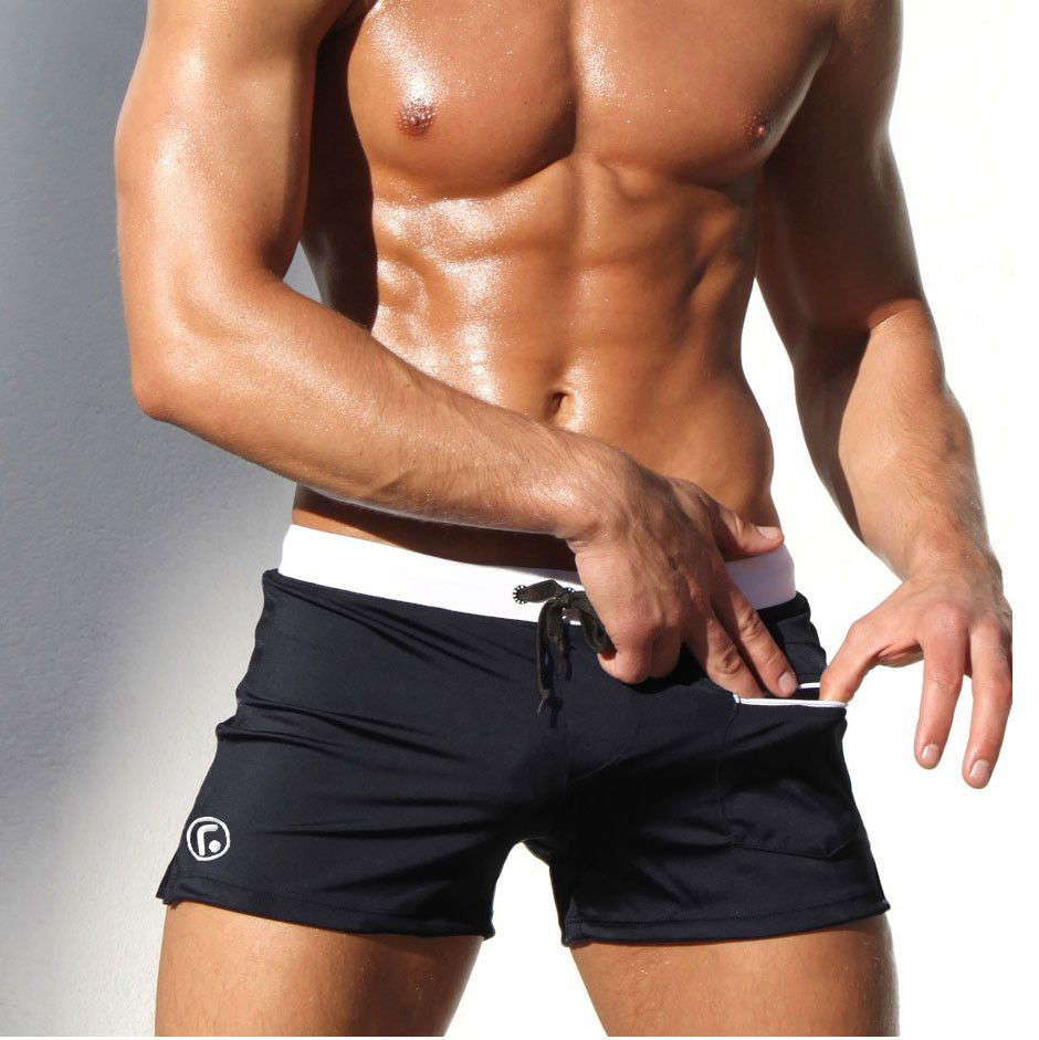 54f6e3a9dff02 AQUX new men s low rise swimwear sexy low personality male beach swimming  trunks shorts men boxer trunks bathing slips