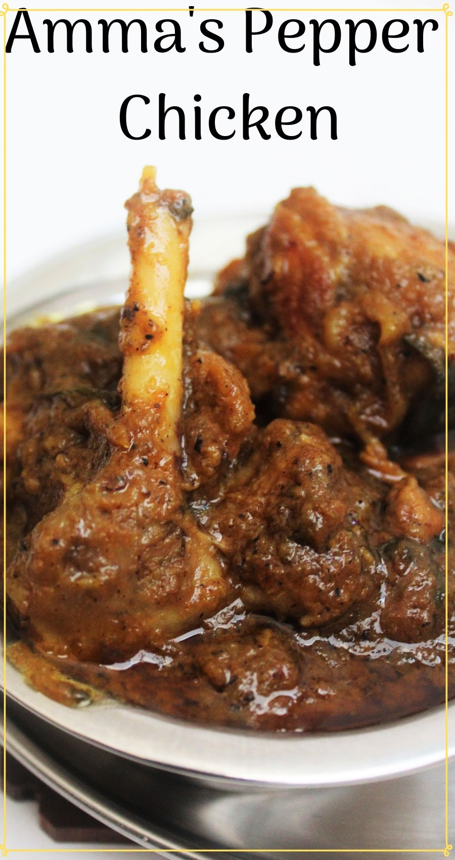 Pepper Chicken /Indian Masala chicken #indianfood