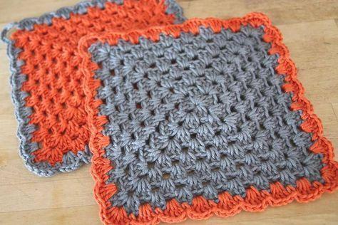 Topflappen häkeln 3   topflappen   Crochet, Pattern und DIY