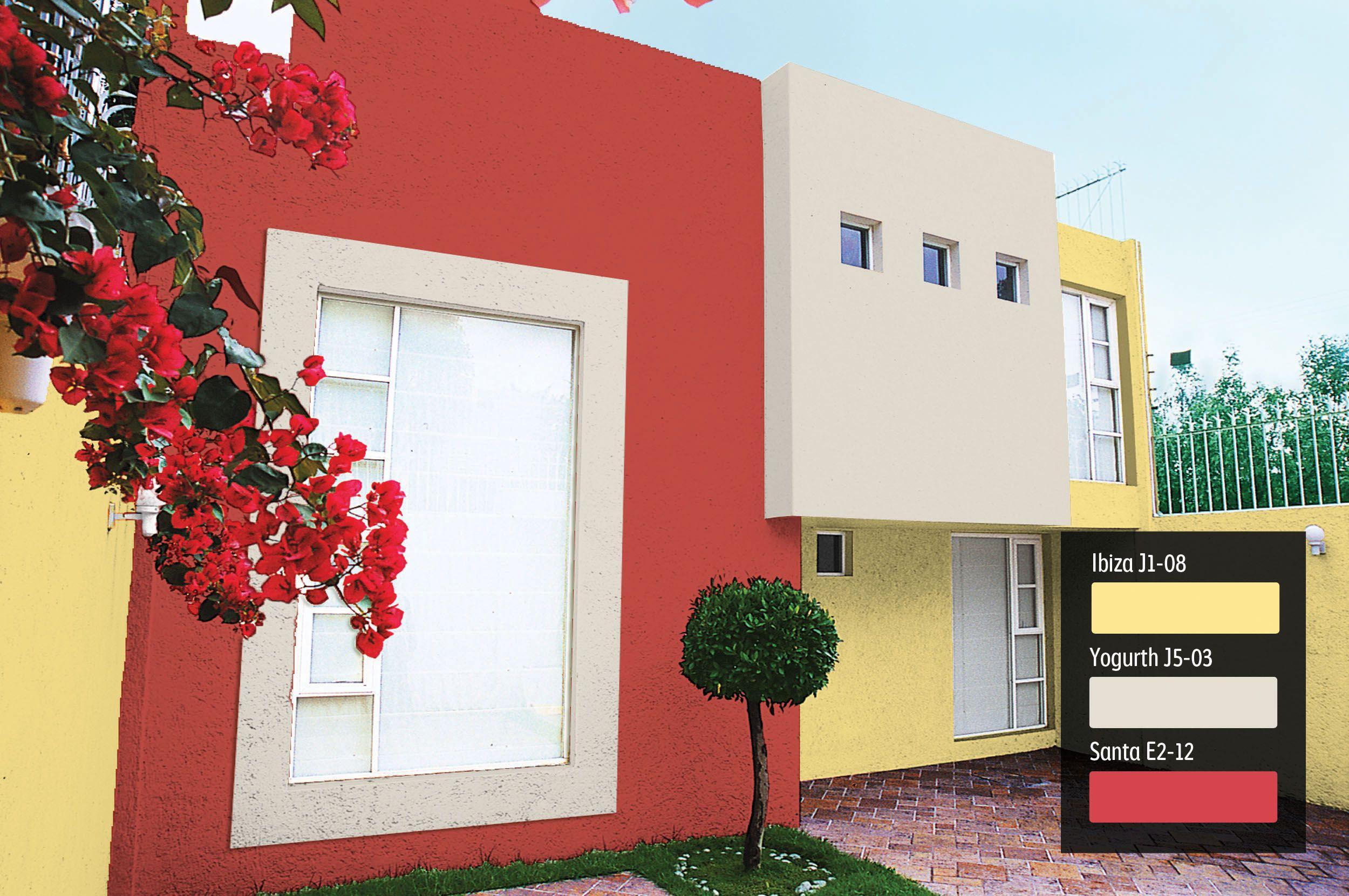 Comex colores vibrantes para tu fachada exteriores for Pintura exterior color arena