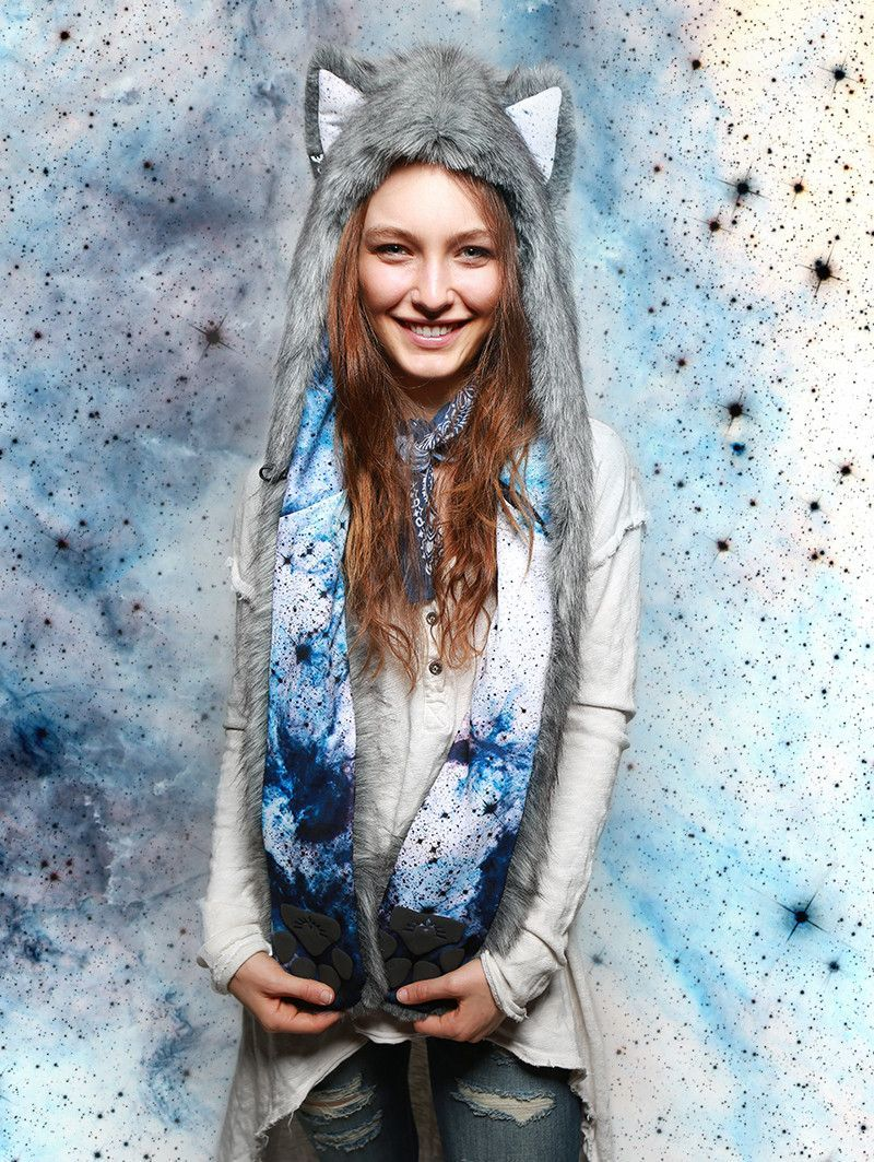 Frosted Inverse Galaxy Fox Collector SpiritHood Fox