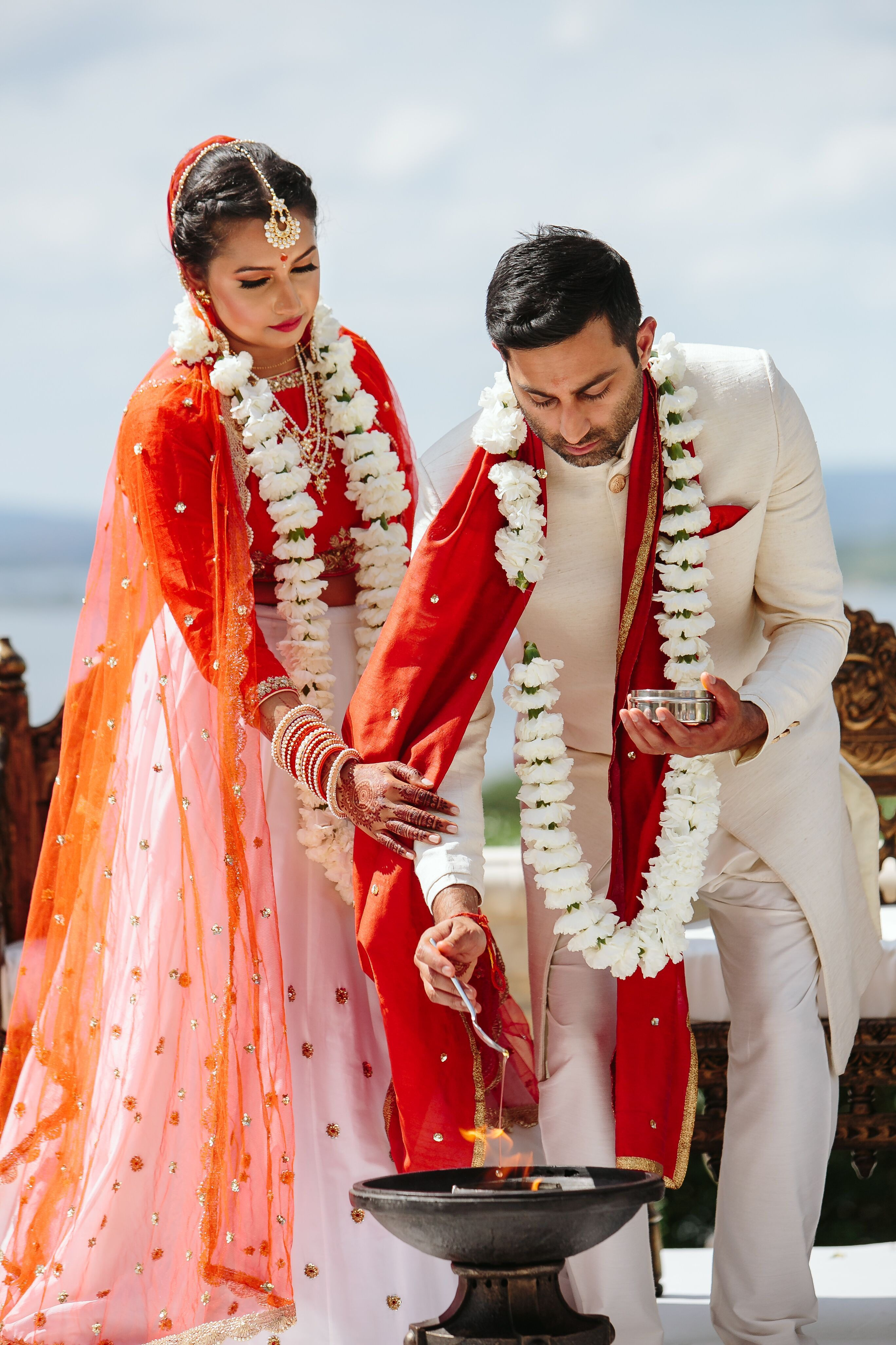 Bride and Groom During Traditional Indian Ceremony in 2020