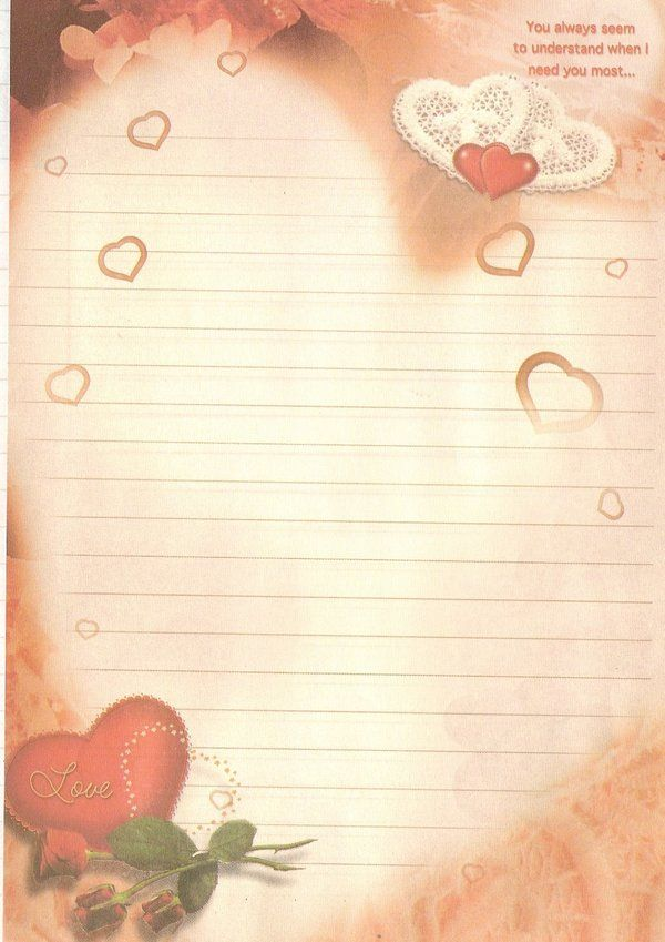 صور اوراق حب للكتابة عليها Love Letter Free Printable Stationery Letter Writing Paper Printable Stationery
