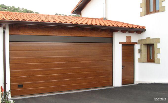 Quieres una bonita puerta de dise o para tu garaje esta - Puertas de garaje de madera ...