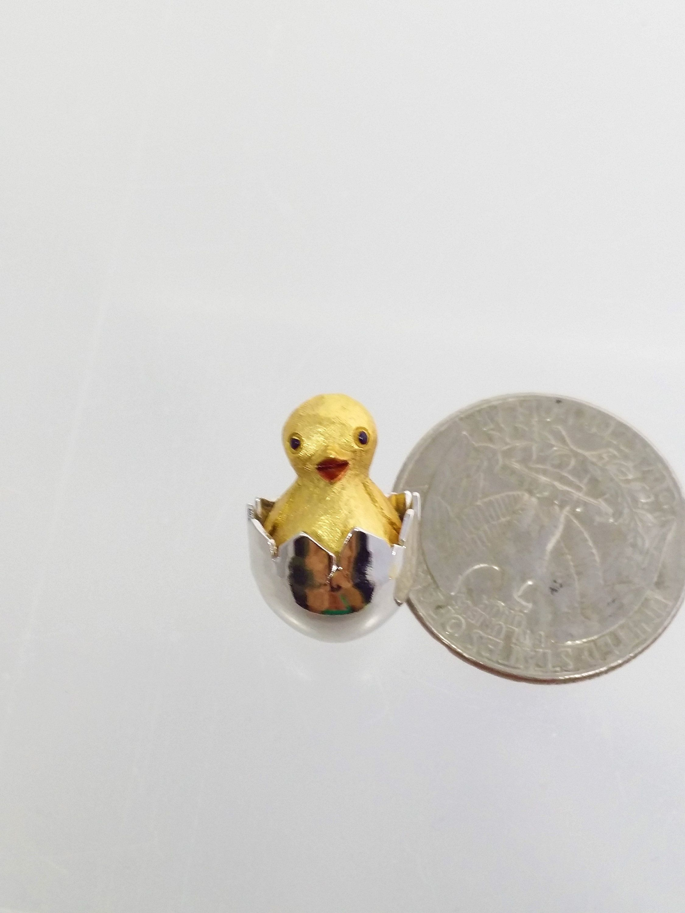 527c8d426fac Avon Chicken in Cracked Egg Lapel Pin, Hatching Chick Tie Tack, Vintage  Women's Costume Jewelry by Snowyowltreasures on Etsy
