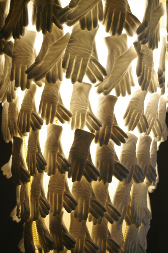chandelier..many hands make light work by Rebecca Wilson x
