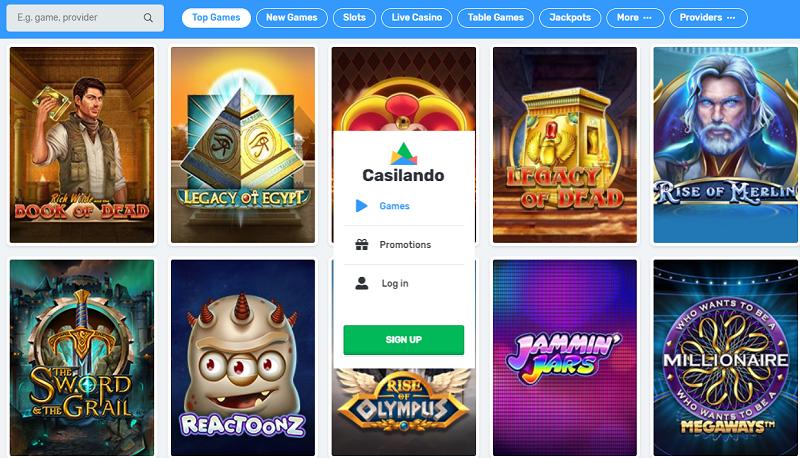 Casilando Casino 10 no deposit free spins in 2020 Casino