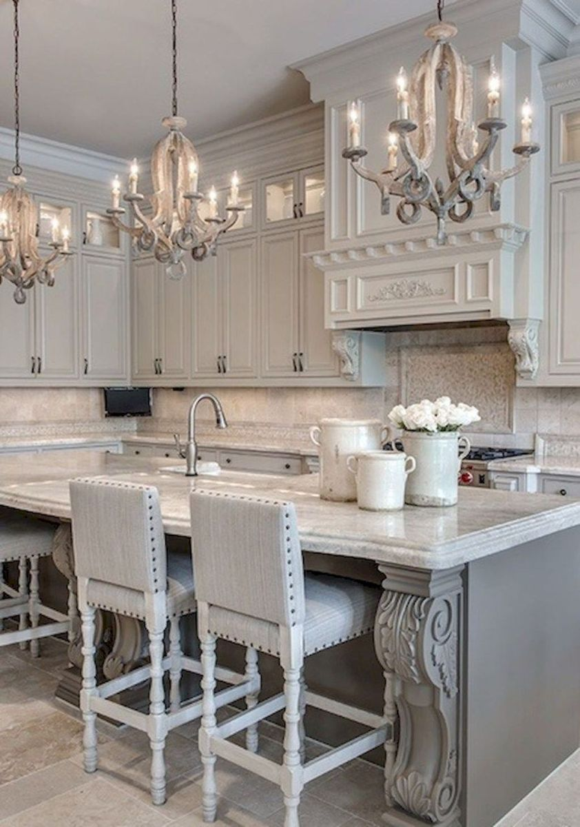 01 simple french country kitchen decor ideas in 2020 grey kitchen designs country kitchen on kitchen remodel ideas id=34302