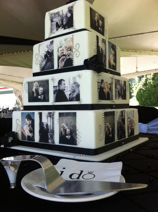 I love this pictorial wedding cake!  #themodernjewishwedding.com