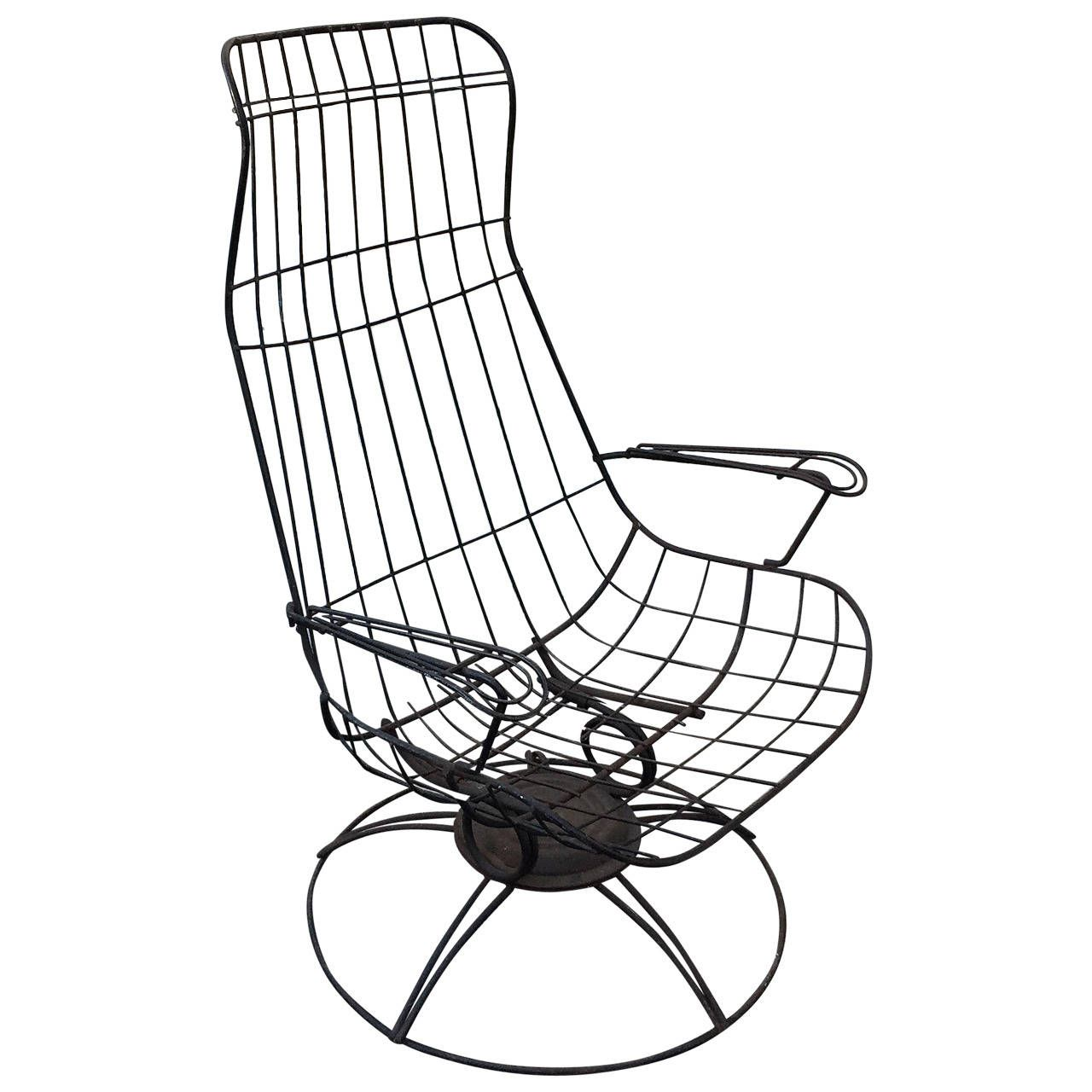 Homecrest Metal Wire High Backed Lounge Chair