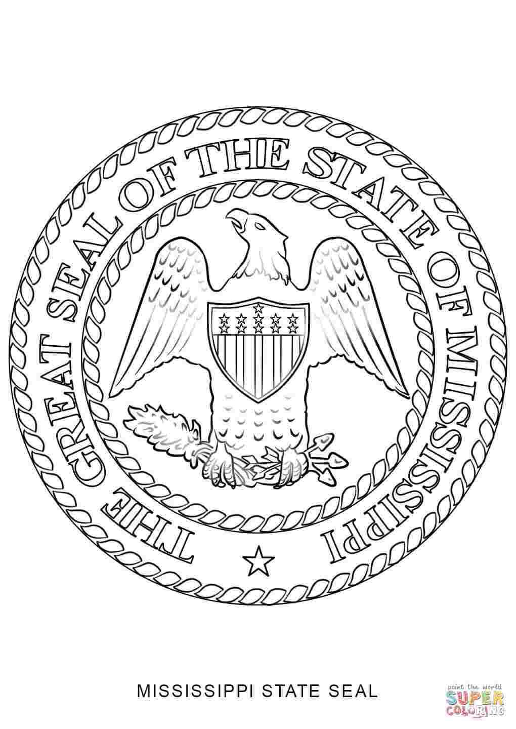 State Seals Coloring Pages Flag Coloring Pages Coloring Pages Bird Coloring Pages