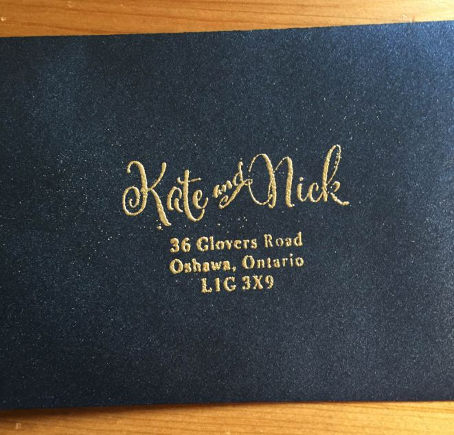 custom wedding return address