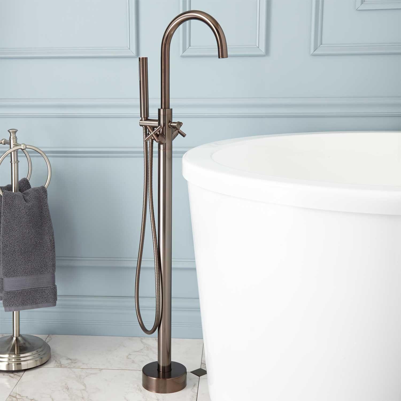 Nerin Gooseneck Freestanding Tub Faucet | Country Home | Pinterest ...
