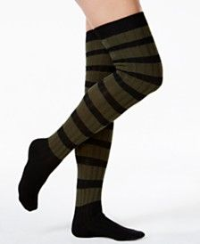 Free People Striped Thigh-High Socks