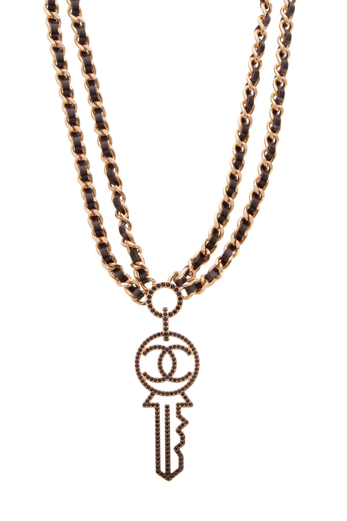 3fccef220d Chanel Key Pendant Necklace - Gold/Black | Crazy for Coco | Gold ...