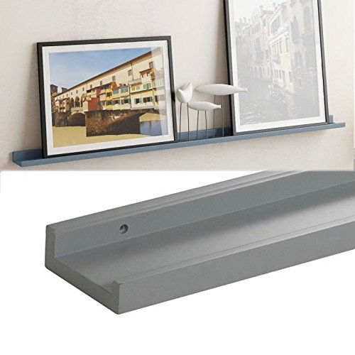 Modern Gray Floating Wood Ledge For Photos Pictures And Frames 45 1