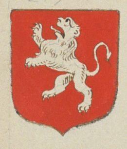 Le Prieuré Curé d'Aubigné. Porte : de gueules, à un lion d'hermines | N° 275 > Saumur