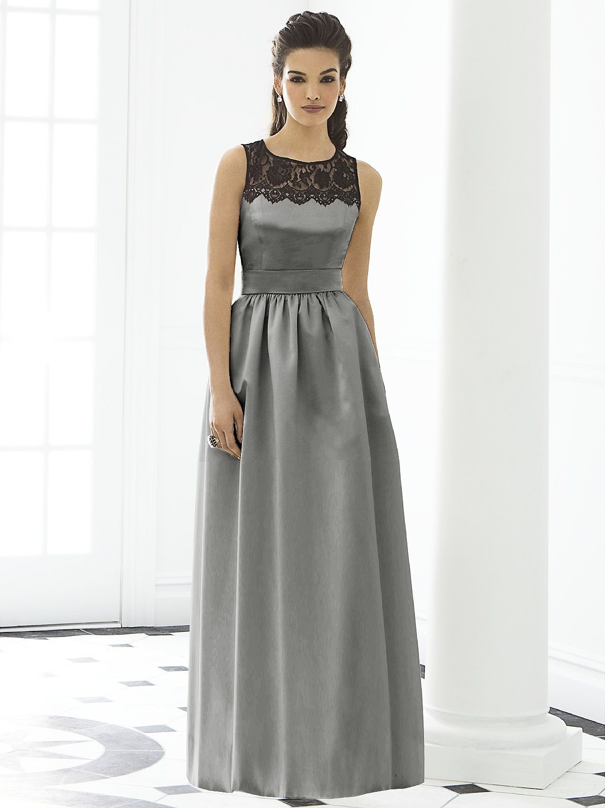 Grey and lace bridesmaid dress perfect potential wedding