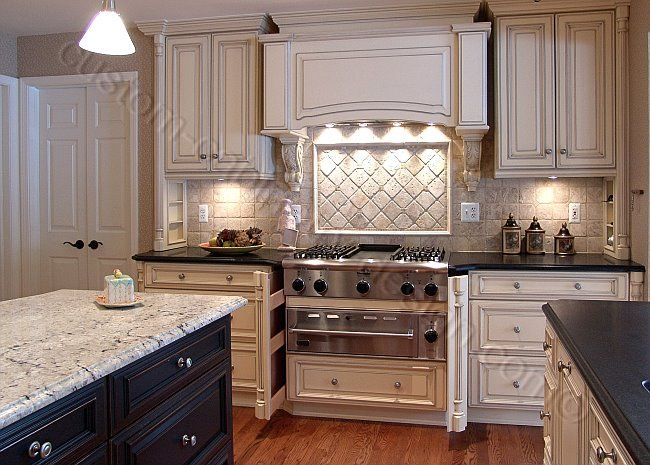 Off White Kitchen Cabinets With Glaze. I Like The
