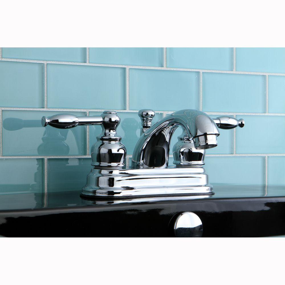 Knight Chrome Centerset Bathroom Faucet By Kingston Brass