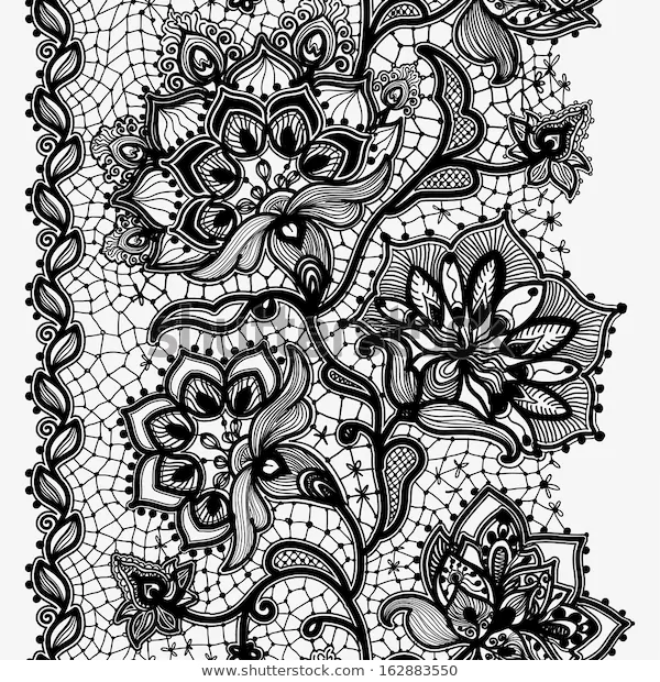 Abstract Lace Image Pattern Elements Flowers Stock Illustration 162883550 Lace Doilies Lace Tattoo Design Lace Tattoo
