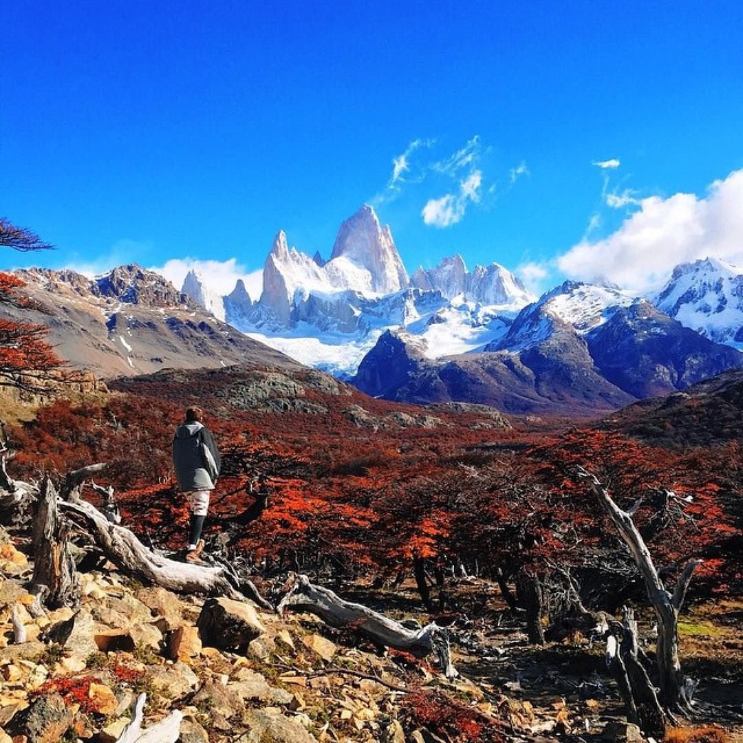 Amazing View On Mount Fitz Roy In El Chalten Argentina GoPro Landscape Mountains
