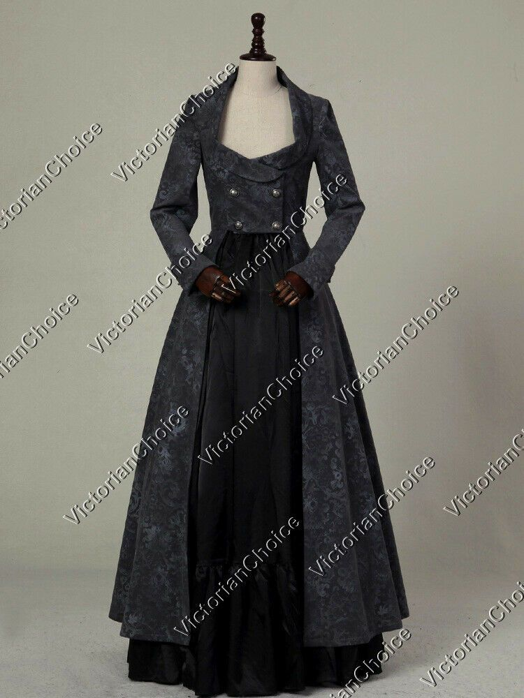 Details about Victorian Sherlock Holmes Steampunk Coat Dress Witch Halloween Costume C058 XL