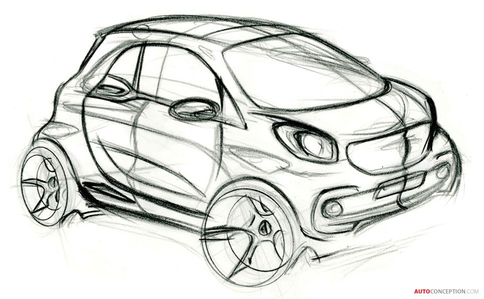 smart fortwo sketch    i wish production cars would remain