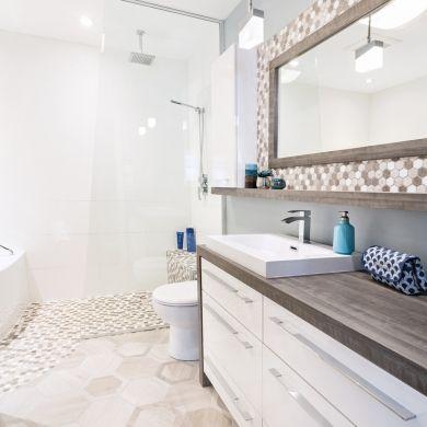 Une salle de bain tout en douceur - Salle de bain - Inspirations