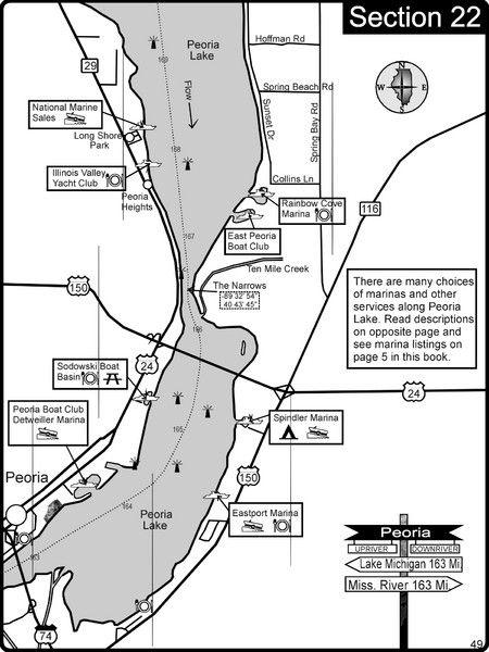Peoria Lake Map Link Birding Peoria