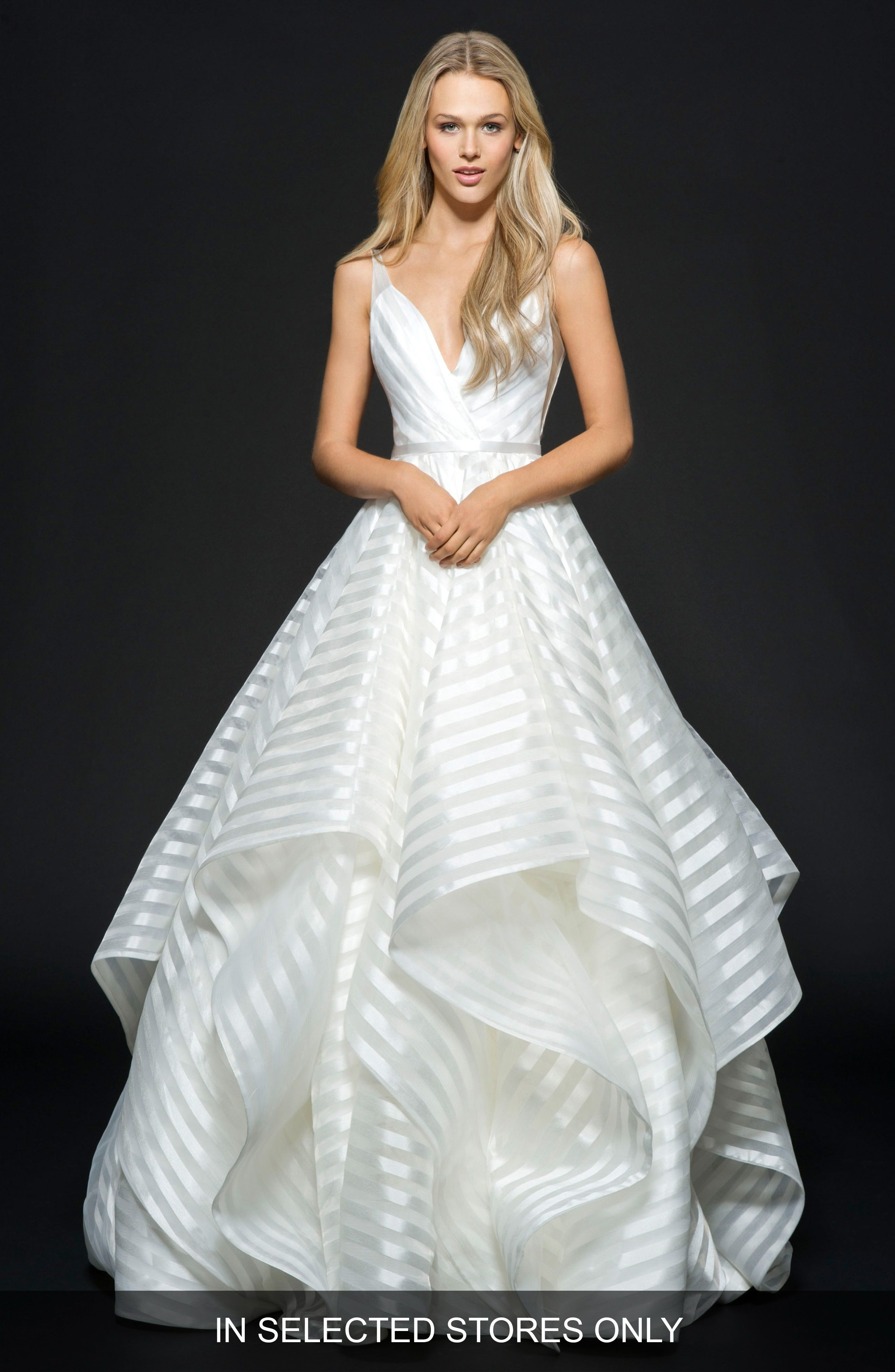 Striped wedding dress by Hayley Paige - #ad - #weddingdresses ...