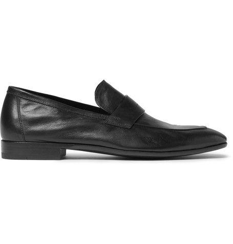 Lorenzo Leather Loafers - BlackBerluti aV53aYZ