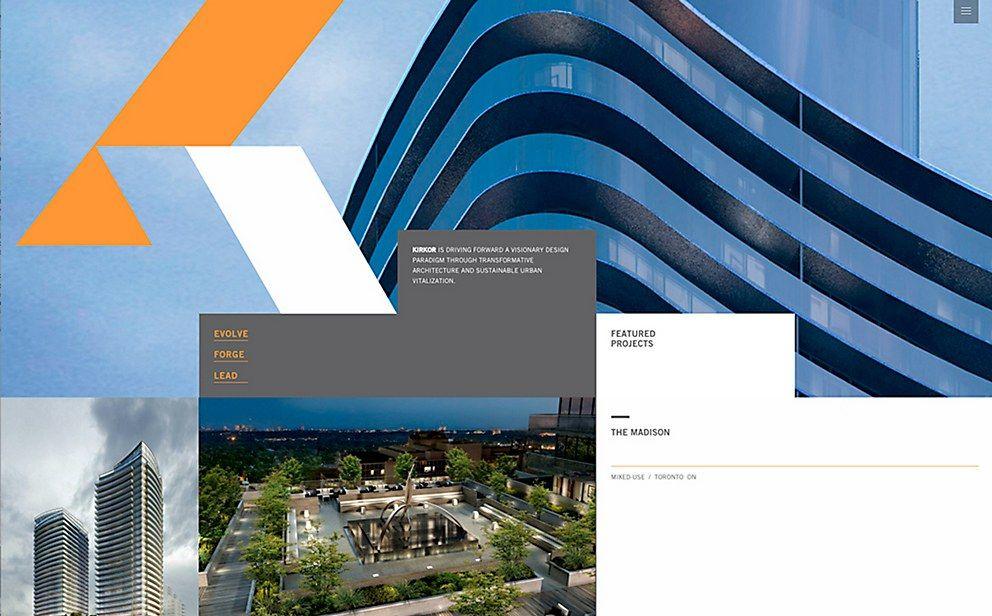 KIRKOR Grid layouts, Communication art, Web design