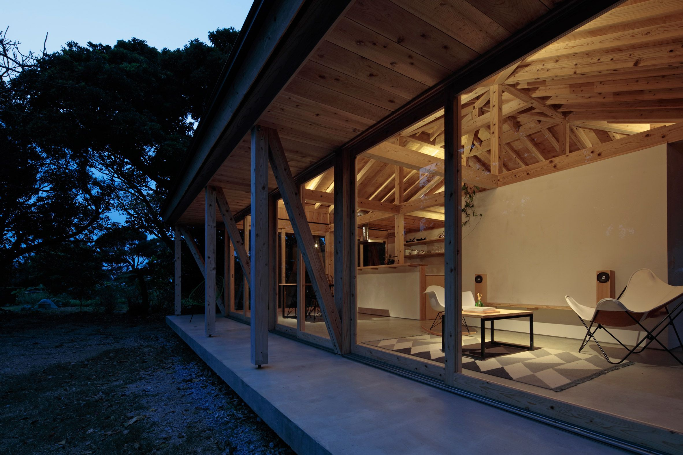 Best Kitchen Gallery: Issho Architects Uses Timber Frames To Create Typhoon Resistant of Tropical House Number Frames on rachelxblog.com