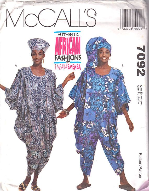 McCalls 60 Misses Authentic African Dress Jumpsuit Pattern EMEABA Impressive African Sewing Patterns