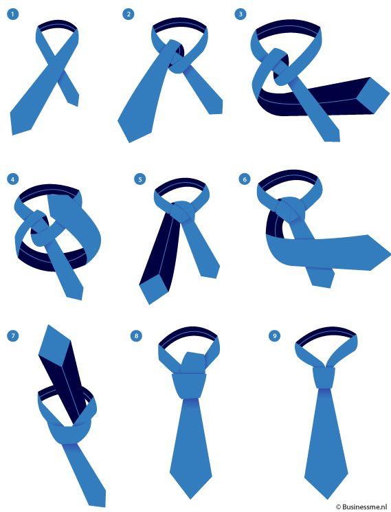 hoe knoop je een das