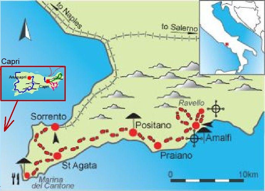 Amalfikuste Capri Kuste Von Amalfi Italien Rundreise Capri