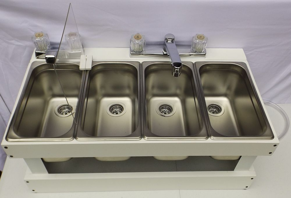 Portable Sink Mobile Concession 3-Compartment with hand wash sink SMW    Business & Industrial · Portable SinkCommercial Kitchen ...