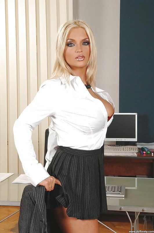 Busty secretary interviews