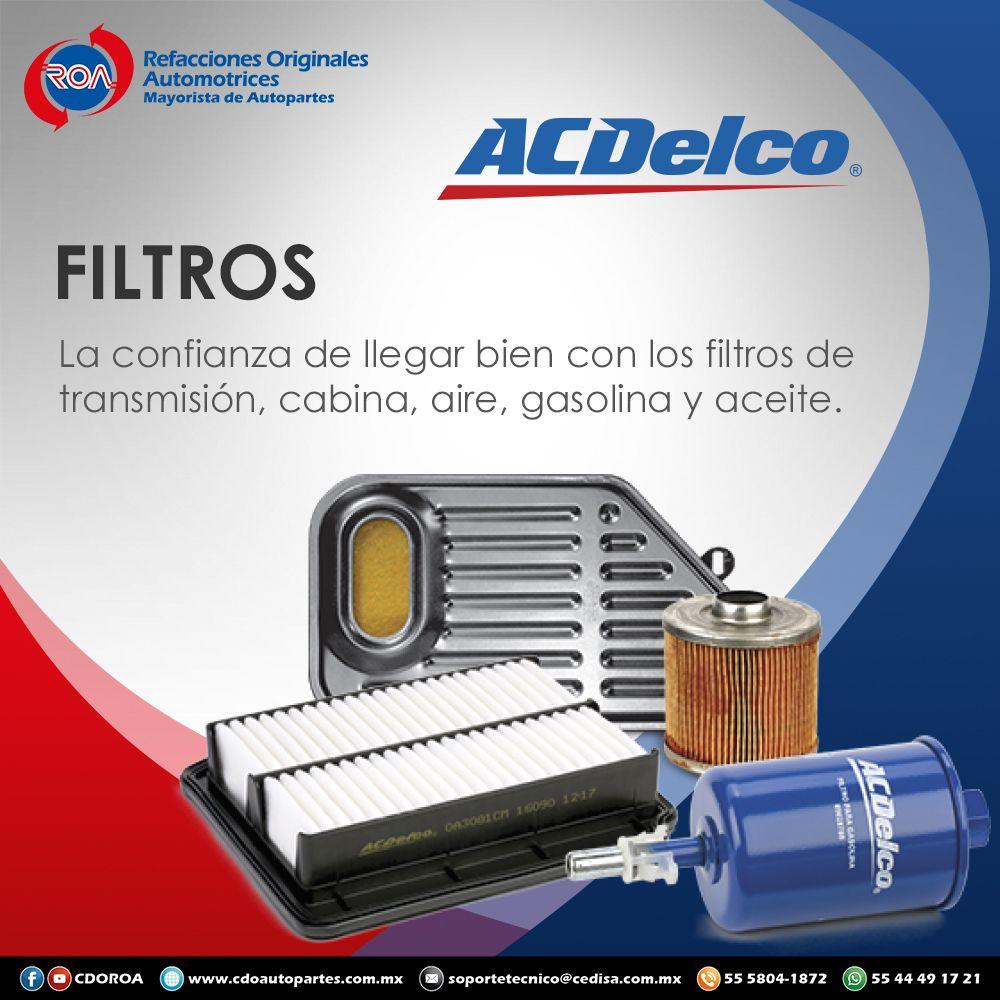 FiltrosACDELCO Autopartes, Cabinas, Refacciones