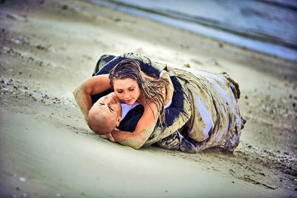 Trash The Dress Sand Beach Wedding Photography Wedding Photo